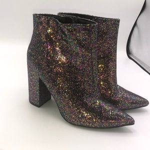 Charlotte Russe Glitter Boots Size 8